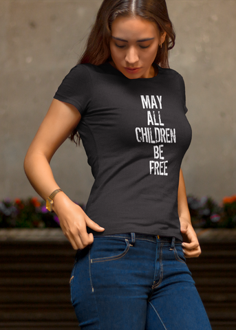 May All Children Be Free Adult Capsleeve Tee