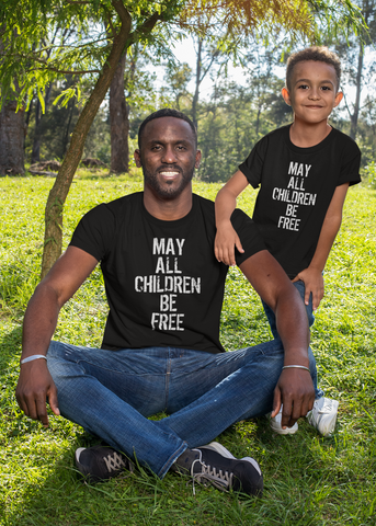May All Children Be Free Adult Unisex Crew