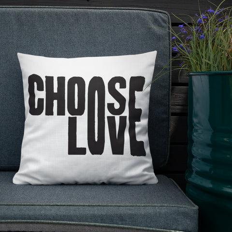 Choose Love + Eliminate Hate Pillow