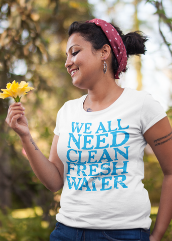 Clean Fresh Water Adult Capsleeve Tee