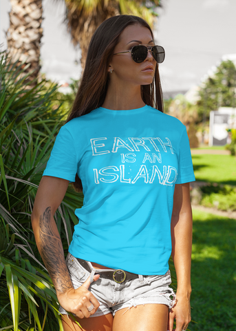 Earth Is An Island Adult Capsleeve Tee