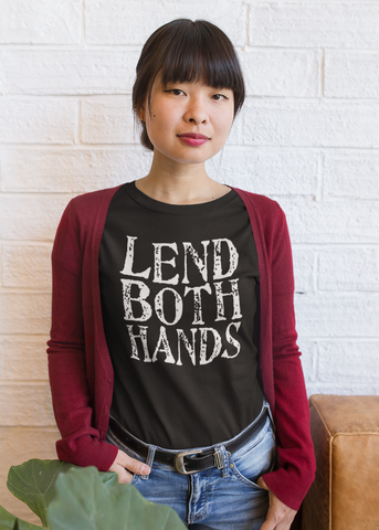 Lend Both Hands Adult Capsleeve Tee