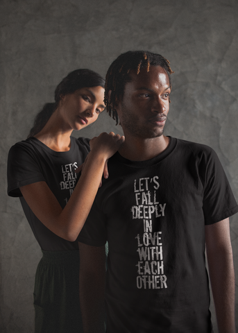 Let's Fall In Love Adult Unisex Tee