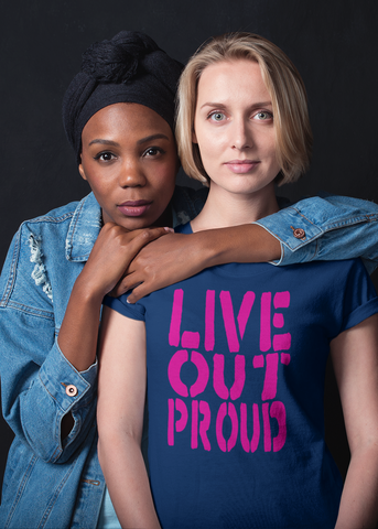 Live Out Proud Adult Capsleeve Tee