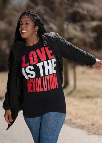 Love Is The Revolution Adult Capsleeve Tee