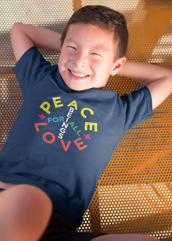 Peace + Love Sign Kids T-Shirt
