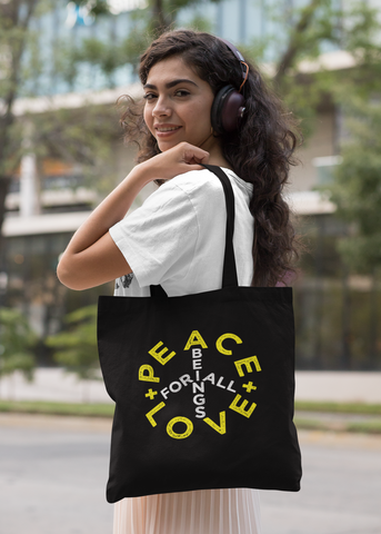 Peace + Love Sign Tote Bag