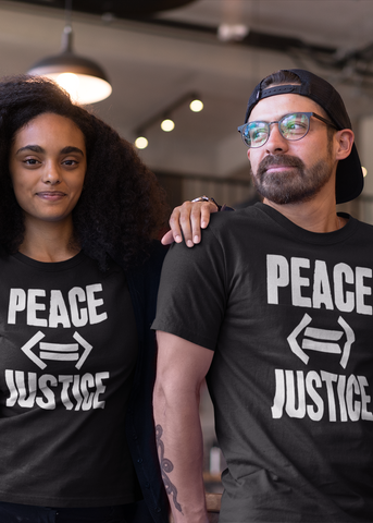 Peace (If And Only If) Justice Adult Unisex Crew