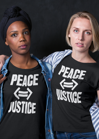 Peace (If And Only If) Justice Adult Capsleeve Tee