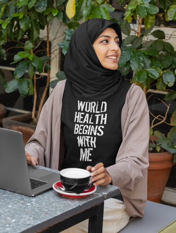 World Health Begins With Me Adult Capsleeve Tee