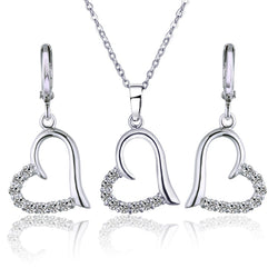 2017 White Gold Plated Wedding Jewelry Set