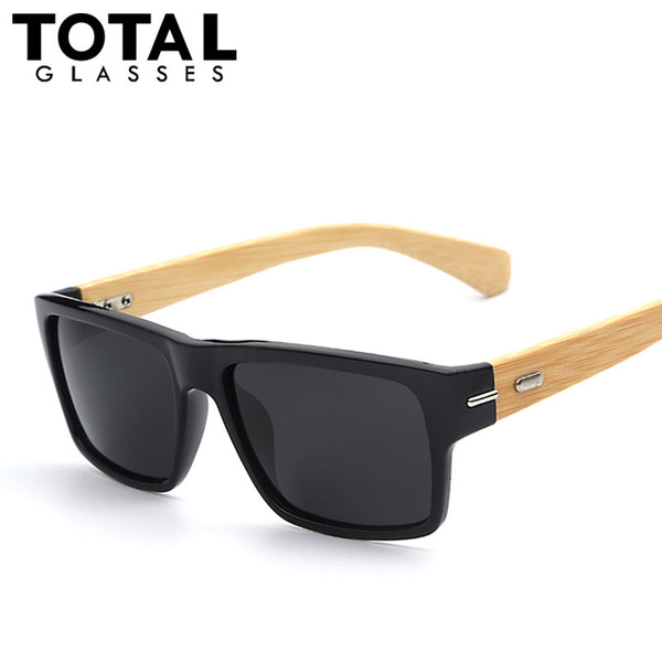 Polarized Sunglasses for Men Vintage Bamboo-made