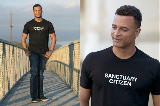 Liberal political t-shirt for the resistance, sanctury cities, and the sanctuary movement.