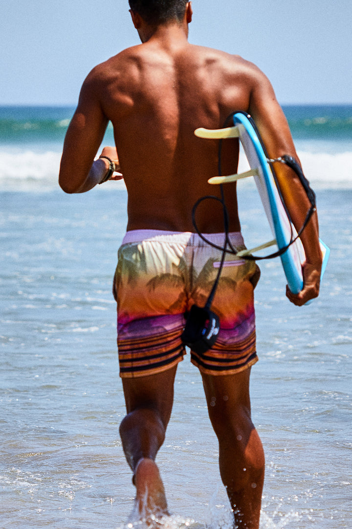 The Sunset Palm Boardshort