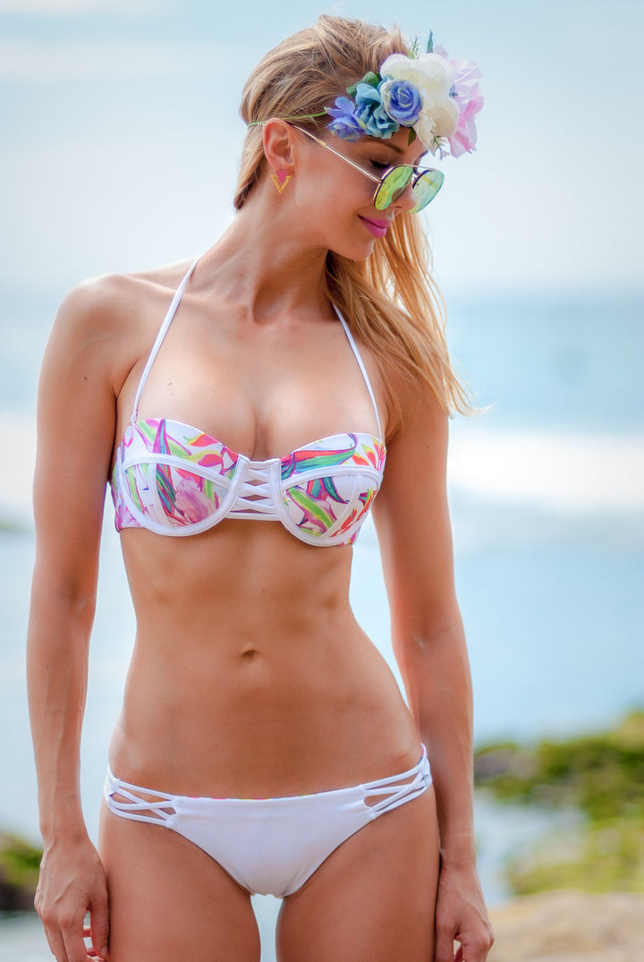 The hipster bikini surf bottoms