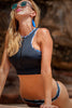The crop sports bra bikini top.