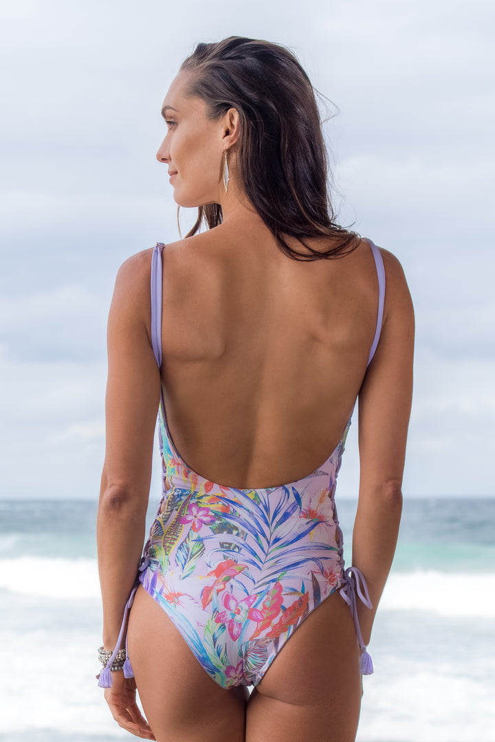 The Lace-up One-piece