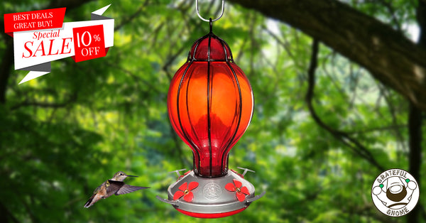 10% Off Red Lantern with Round Top