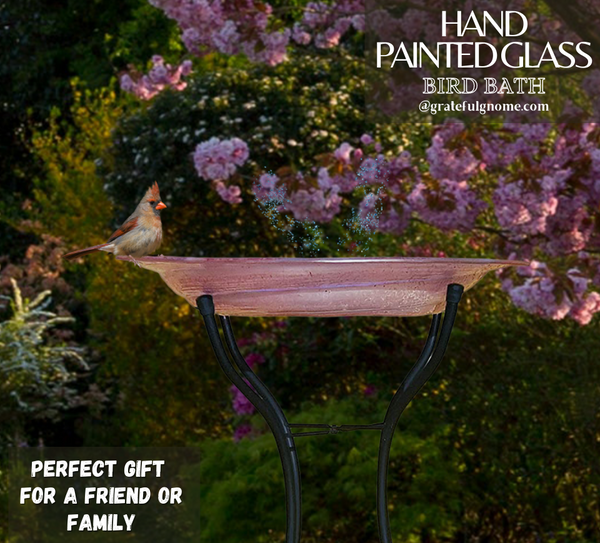 featured-product-of-the-week-hand-painted-glass-bird-bath-with-stand-and-solar-fountain