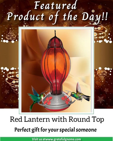 Red Lantern with Round Top