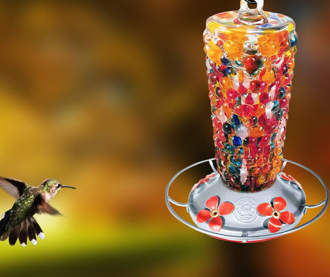 attract-more-hummingbirds-with-blown-glass-hummingbird-feeder