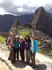 The goddess gang at Machu Picchu (I climbed the mountain behind us the next day!)