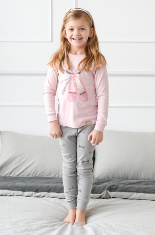 Ballet Shoes Girls Organic Pajamas