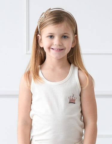 Princess Crown Girls Organic Tank Top