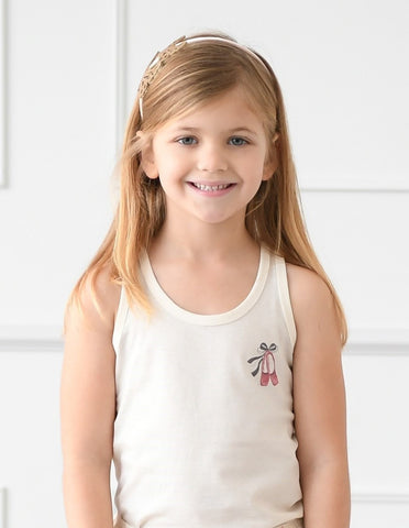 Ballet Shoes Girls Organic Tank Top