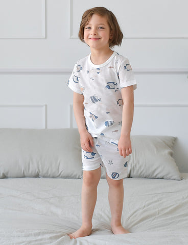 Aquarium Boys Organic Short Pajamas