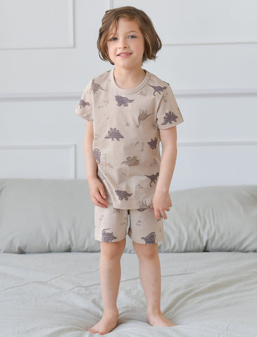 Dino World Boys Organic Short Pajamas