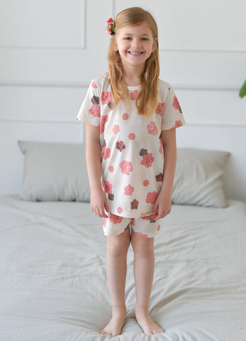 Sugar Flower Girls Short Pajamas