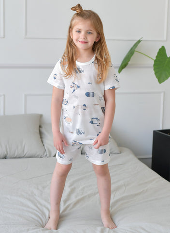 Aquarium Girls Short Pajamas