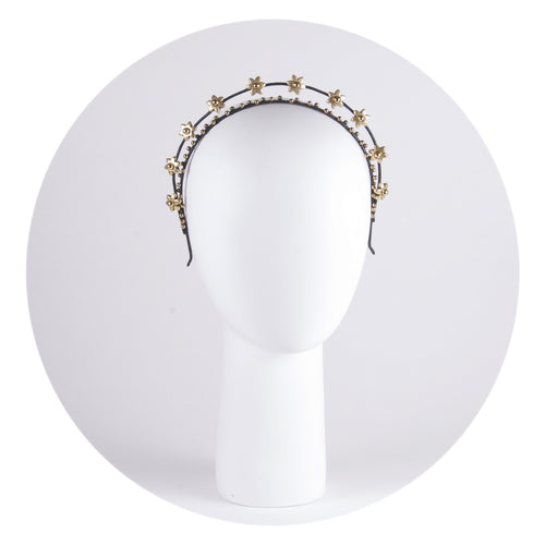 Gold-tone flower embellished headband