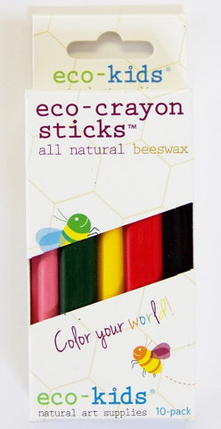 eco-kids eco-crayon sticks 10 pk