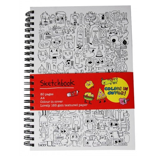 A4 Colour-in Sketchbooks