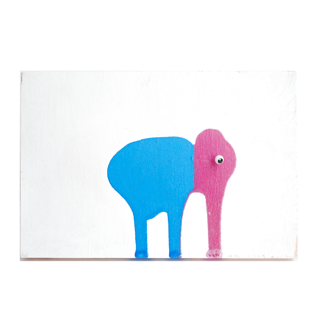 Elephant Drip Painting