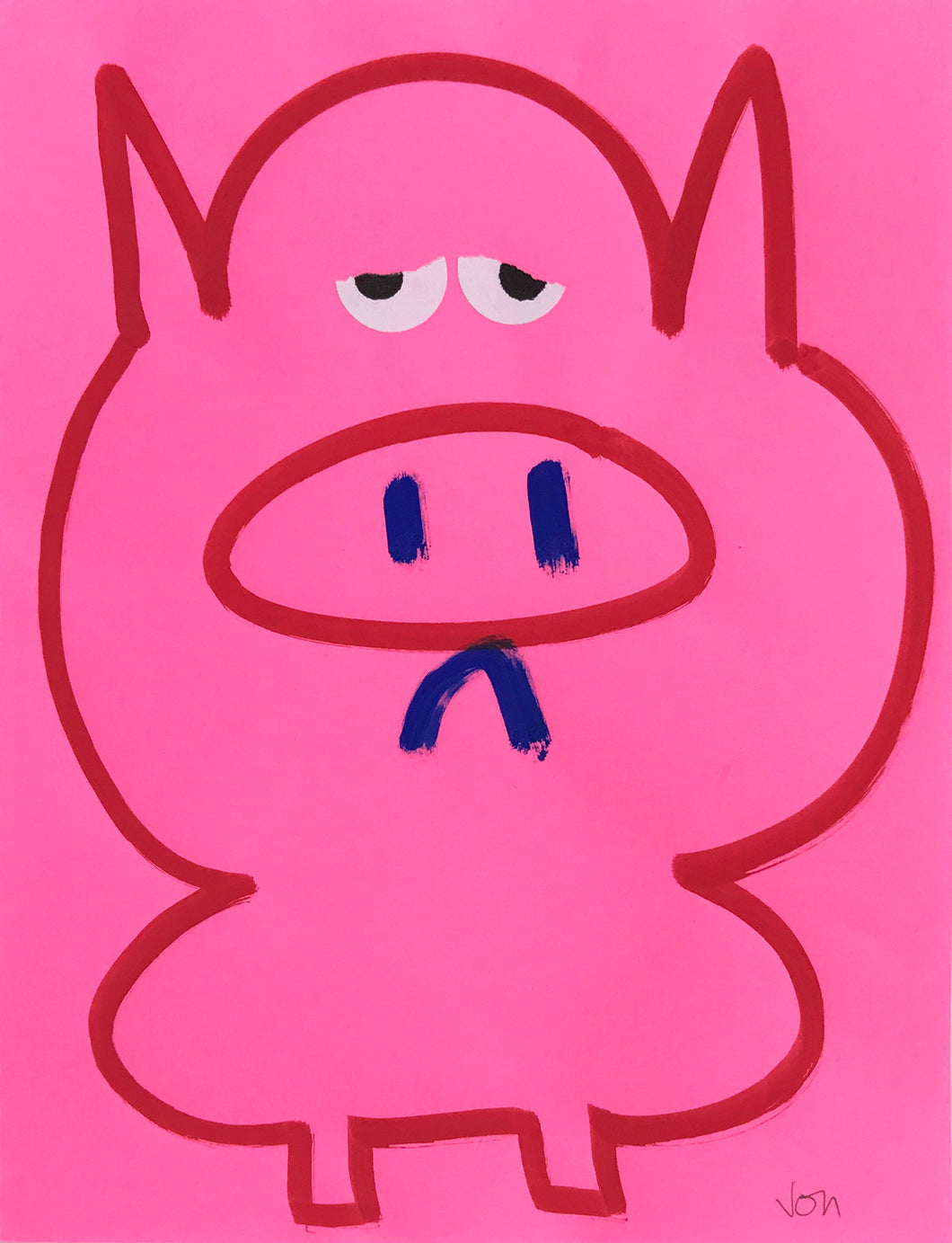 Piggie Wiggie Original Drawing