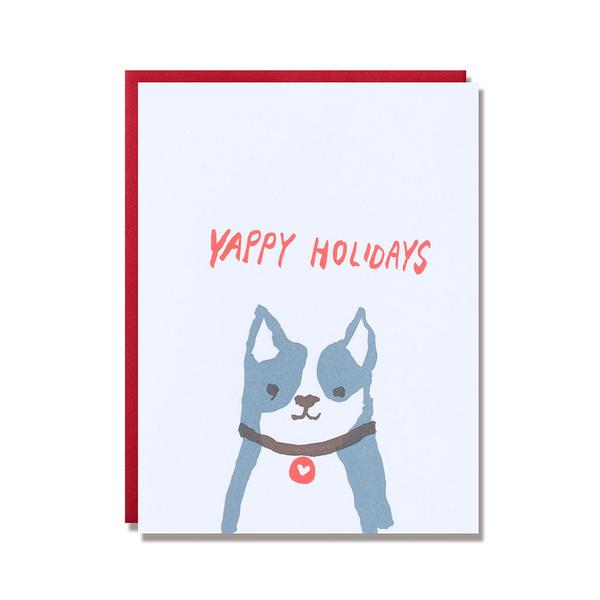 Egg Press Christmas Greeting Card Yappy Holidays Dog | Smack Bang