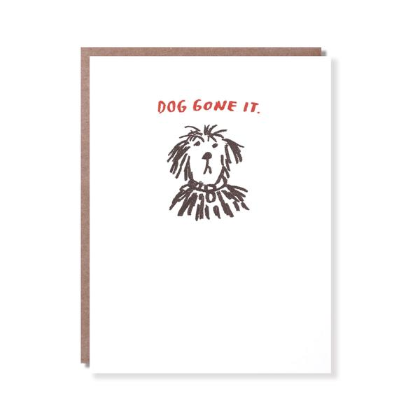 Egg Press Greeting Card Dog Gone It | Smack Bang