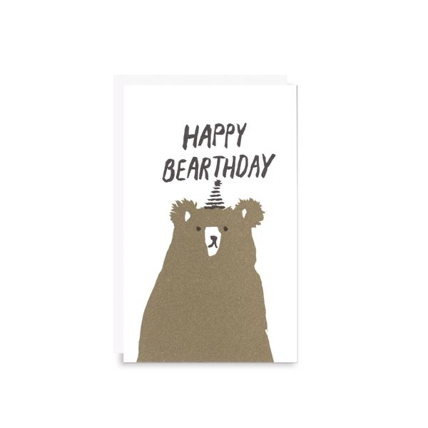 Egg Press Gift Card Happy Bearthday Birthday Bear | Smack Bang