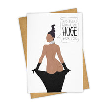 TAY HAM Greeting Card Kim Kardashian This Year's Gonna Be Huge | Smack Bang