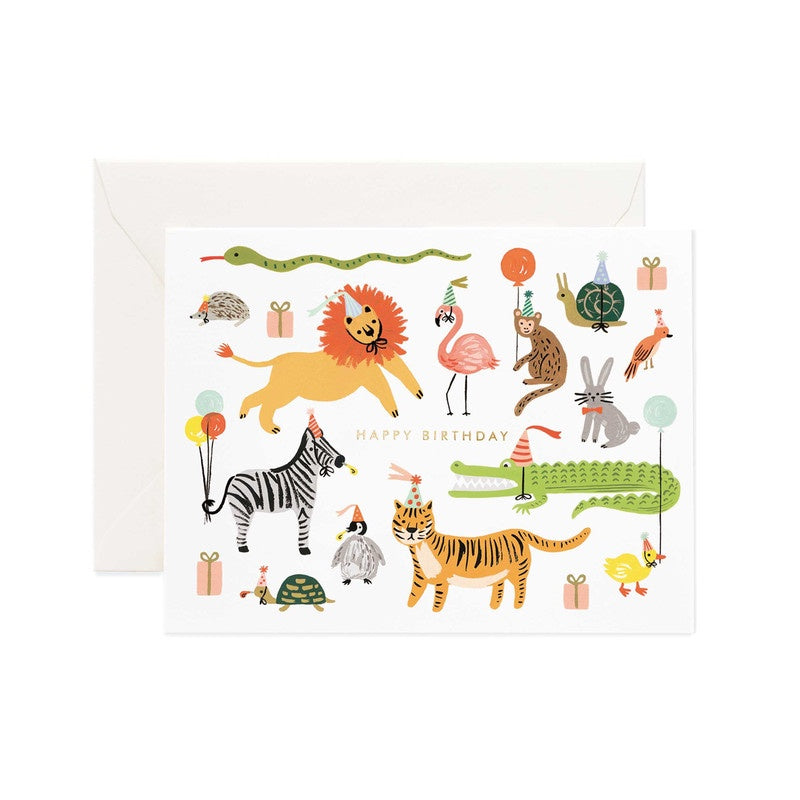 Rifle Paper Co Greeting Birthday Card Party Animals | Smack Bang