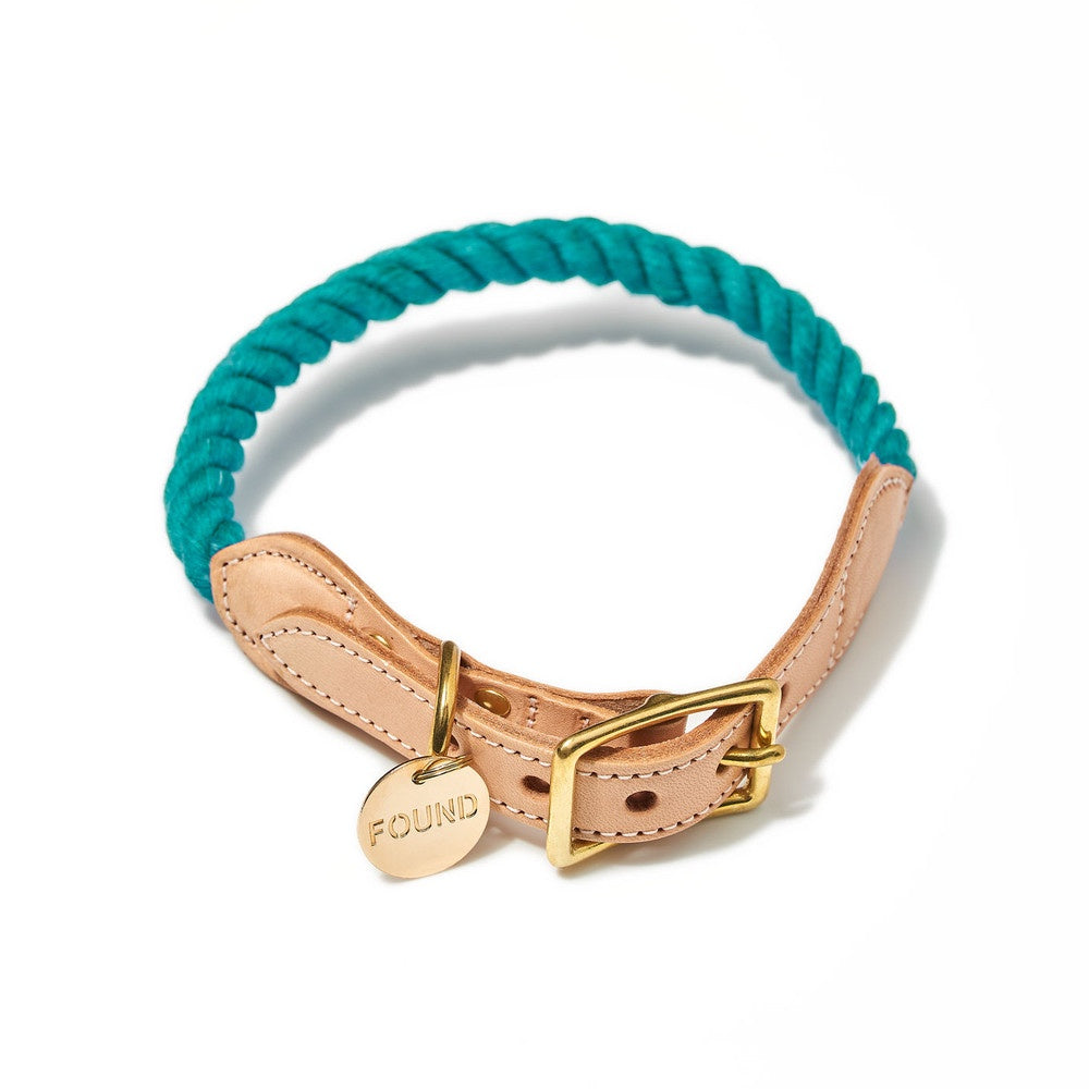 Found My Animal Teal Upcycled Rope Dog Collar | Smack Bang