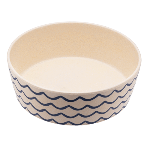 Beco Bamboo Dog Bowl Ocean Waves | Smack Bang