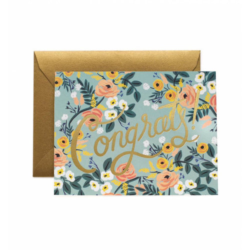 Rifle Paper Co Blue Meadow Congrats Congratulations Greeting Card | Smack Bang