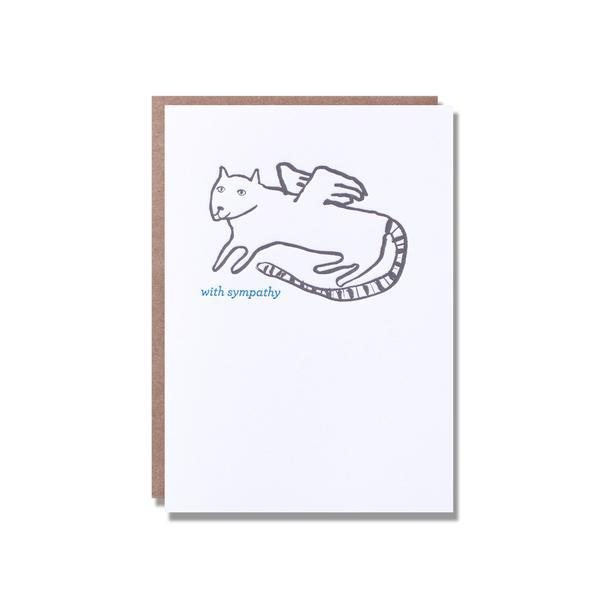 Egg Press Greeting Card Cat Sympathy | Smack Bang