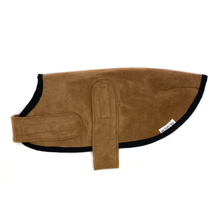 Mr Soft Top Chocolate Suede Dog Coat | Smack Bang
