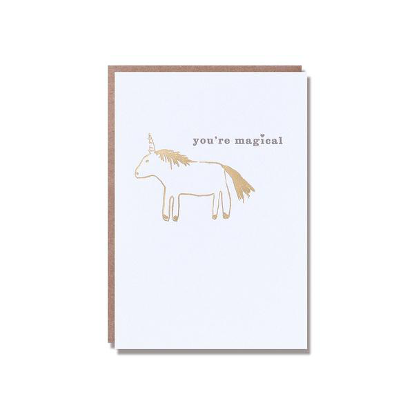 Egg Press Greeting Card Gold You're Magical Unicorn | Smack Bang
