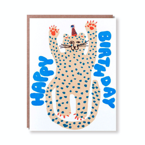 Egg Press Greeting Card | Party Cheetah Birthday | Smack Bang